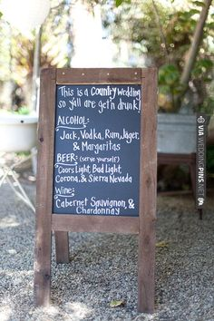 let your guests know what's in store with a drink menu | VIA #WEDDINGPINS.NET