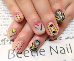 Nail Art - Beetle Nail : 八幡|ネオンアート  #ネイル #ビートル近江八幡 #ビートルネイル #ネイル近江八幡