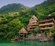 The Laguna Lodge in Guatemala on Lake Atitlan - I absolutely love the setting of this.  The only way to get there is via boat.