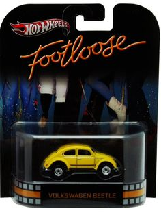 TW5 Hot Wheels VOLKSWAGEN BEETLE FOOTLOOSE YELLOW CAR Retro Entertainment 1/64 #HotWheels #Volkswagen