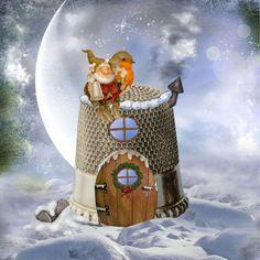 """Gnome home."" by beth-walkingonsunshine on Polyvore"
