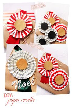 DIY: paper rosette