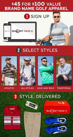 Affordable Golf Apparel -- Brand Names for 50% Off Retail Prices. get $10 off your first box today!