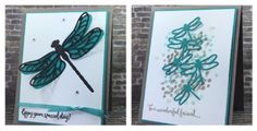 Dragonfly Dreams, Detailed Dragonfly Thinlits, Stampin' Up! Hand Stamped Cards, Make Blog, Greeting Cards Handmade, Stampin Up Cards, Cardmaking, Bee, Paper Crafts, Dragon Flies, Scrapbooking Ideas