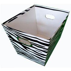 Zebra Print Decorative Basket