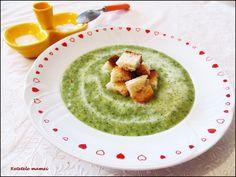 Supă cremă de broccoli cu crutoane Supe, Hummus, Ethnic Recipes, Food, Essen, Meals, Yemek, Eten