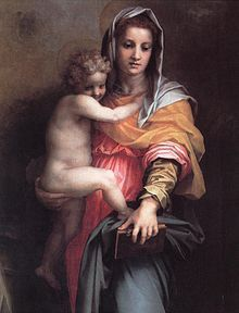 Andrea del Sarto - Madonna delle Arpie (dettaglio) - 1517 - Firenze - Galleria degli Uffizi