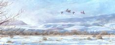 "Landscape Artists International: Colorado Winter Landscape, Wildlife Painting  ""Fog..."