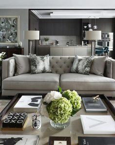 Nadire Atas on Elegant Living Rooms Learn how to easily make your living room look and feel more luxurious with these key ideas Elegant Living Room, Elegant Home Decor, Elegant Homes, Living Room Modern, Home Living Room, Apartment Living, Interior Design Living Room, Living Room Designs, Modern Decor