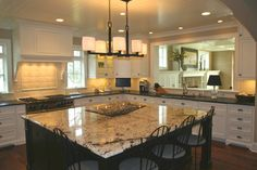 kitchen with pass through to family room over sink