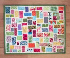 Scrap Buster Project ~ Tiny Ticker Tape Quilt Tutorial from Amanda Jean | Sew Mama Sew |