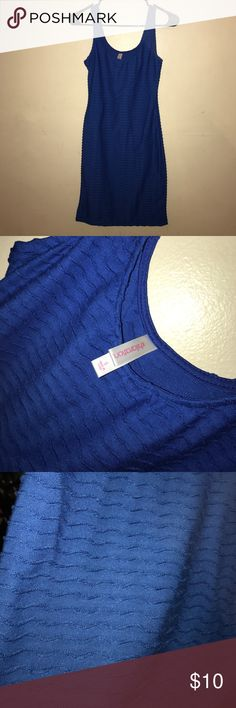Blue small ruffle small dress Xhilaration Great condition small cute blue dress size small! Longer than a mini dress Xhilaration Dresses Midi