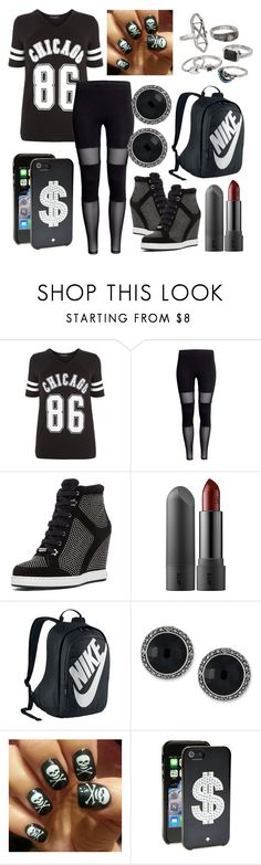 """""""style 2286"""" by bellaannabella ❤ liked on Polyvore featuring Jimmy Choo, NIKE, Genevieve & Grace, Kate Spade, Mudd and plus size clothing"""