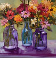 """""""Fairy Flowers"""" original fine art by Libby Anderson"""