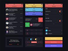 UI Kit for Marvel App by Alexander Zaytsev