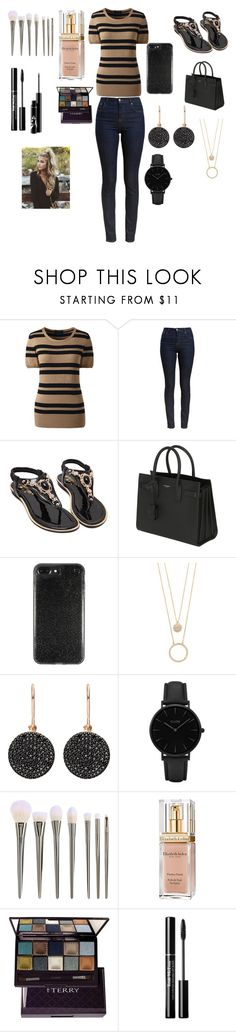 """""""Something Nice"""" by eldrianmcdonnell ❤ liked on Polyvore featuring Lands' End, Barbour, Yves Saint Laurent, Kate Spade, Astley Clarke, CLUSE, Elizabeth Arden and By Terry"""