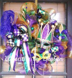 Mardi gras Crown. Wreaths by Design on FB