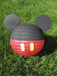 Mickey Mouse Inspired Paper Lantern | http://best-dream-cars-collections.blogspot.com