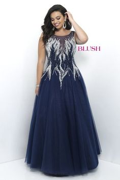 Ball Gowns - Pink by Blush Prom Too - Plus Size Style 9306W