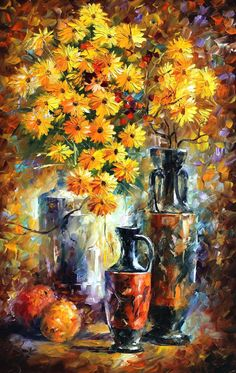 YELLOW FLOWERS - Palette knife Oil Painting  on Canvas by Leonid Afremov http://afremov.com/YELLOW-FLOWERS-Palette-knife-Oil-Painting-on-Canvas-by-Leonid-Afremov-Size-20-x36.html?bid=1&partner=20921&utm_medium=/vpin&utm_campaign=v-ADD-YOUR&utm_source=s-vpin