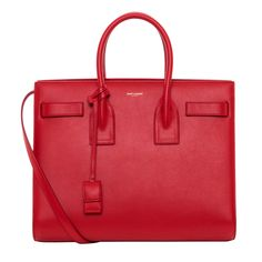 Available in red dyed leather, this Saint Laurent bag will be the envy of your friends.