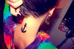 anchor tattoo girl