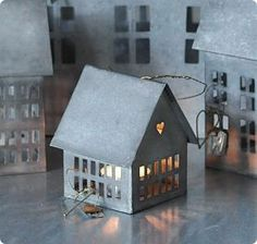 Zinkhus -zinc little lamp houses