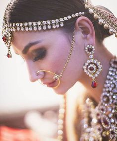 Bride Jessica on her wedding and Everything is so beautiful about this! Photo by Makeup by Indian Bridal Fashion, Indian Wedding Jewelry, Bridal Jewelry, Last Minute Wedding, Indian Marriage, Indian Princess, Jewelry Photography, Wedding Photography, Wedding Preparation