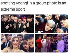 Poor Yoongi can't get in a picture  WE NEED TO SEE HIS BEAUTIFULNESS