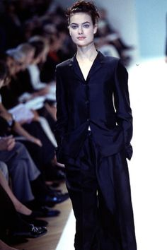 Shalom Harlow, Jil Sander S/S 1996 Shalom Harlow, 90s Models, Jil Sander, 1990s, Supermodels, Personal Style, Runway, Formal, Outfits