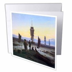 3dRose The Stages of Life by Caspar David Friedrich, Greeting Cards, 6 x 6 inches, set of 6