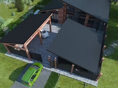Project Of The Private House - Picture gallery Modern House Plans, Modern House Design, Building Design, Building A House, Casas Containers, Roof Design, Future House, Architecture Design, New Homes