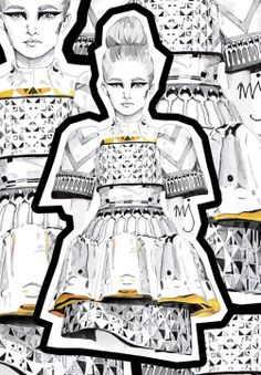Mary Katrantzou illustration