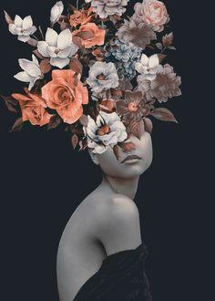 Art And Illustration, Surealism Art, Art Du Collage, L'art Du Portrait, Photographie Portrait Inspiration, Photo D Art, Photocollage, Arte Floral, Fine Art