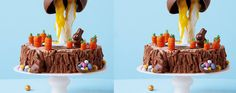 Make a showstopping creation this Easter with our chocolate gravity cake which takes things Easter eggs to new heights!