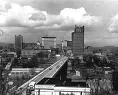 Knoxville Skyline 1951 Old Images, Old Photos, State Of Tennessee, Smoky Mountains Cabins, Historical Pictures, History, City, Places, Bbq