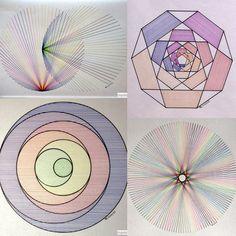 #geometry #symmetry #fractal #mathart #regolo54 #circle #light #pentagon #ink #rainbow