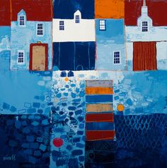 View all George BIRRELL art, paintings and contemporary Scottish art at the Red Rag art gallery Kitsch, Collages, Glasgow School Of Art, Abstract Watercolor, Abstract Landscape, Naive Art, Art Portfolio, Contemporary Artists, Art Lessons