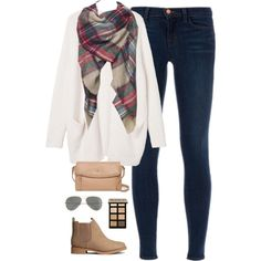 A fashion look from January 2015 featuring Monki cardigans, J Brand jeans and H&M ankle booties. Browse and shop related looks.