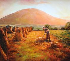 In Nephin's Shadow, Co. Mayo Painting by Conor McGuire