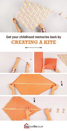 Creating your own kite can bring back your childhood memories. Fly it yourself or show your children how they can have loads of fun outdoors. Find more exciting DIY projects at www.youjustdo.co.uk