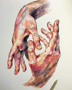 Hands By Noel Badges Pugh Drawing #art #artphotography #photography #artdeco