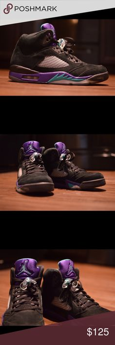 64c69f61b51645 Air Jordan 5 Black Grape size 11. Jordan 5Jordan ShoesBlack GrapesJordans  For MenAir JordansSportsShoes ...
