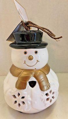 GC Naturals Snowman Vanilla Brown Sugar Potpourri Sachet Ceramic Holder Decor #GCFragranceNaturals