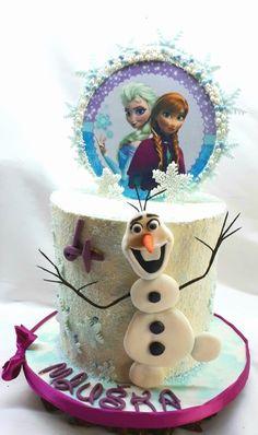Frozen cake ganache