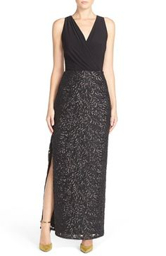 Aidan by Aidan Mattox Drape Jersey & Sequin Blouson Gown available at #Nordstrom