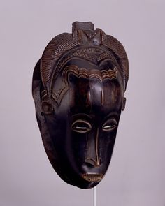 West Africa, Ivory Coast: Guro or Yaure. Acquired Robert and Lisa Sainsbury Collection. African Masks, African Art, Soul Art, Masks Art, African Culture, Ivory Coast, African Fabric, West Africa, Tribal Art