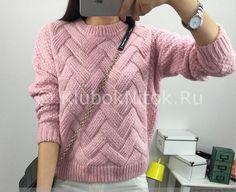 Интересный пуловер   Вязание для женщин   Вязание спицами и крючком. Схемы вязания.