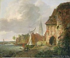 Adolph Kiste - The March Gate in Buxtehude, 1830