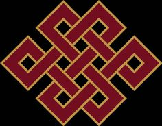 """Endless knot. Buddhist knot. """"Do not dwell in the past, do not dream of the future, concentrate the mind on the present moment."""" (Budha)"""